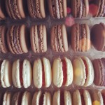 Strawberry gelly & chocolate-la vender macaron! #pasticcioni  #macaron #instagood #instamood #igers #food