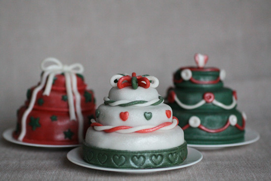 mini cake christmas