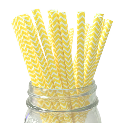 childrens-birthday-party-supplies-table-decoration-yellow-chevron-straws