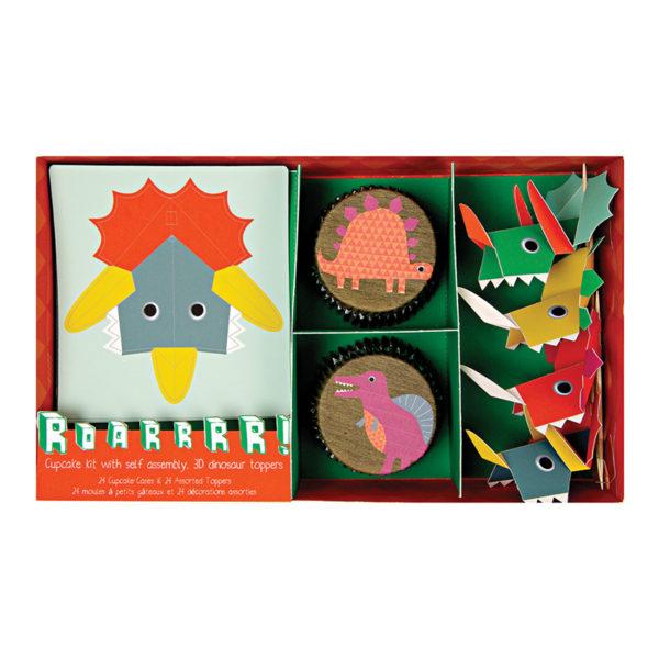 cupcake set dinosaur 124012