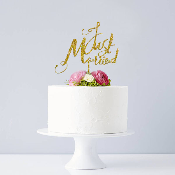 original_elegant-just-married-wedding-cake-topper_glitteroro