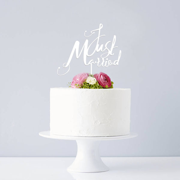 original_elegant-just-married-wedding-cake-topper_white