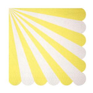 tovaglioli raggi stripe yellow gialli meri meri 125209
